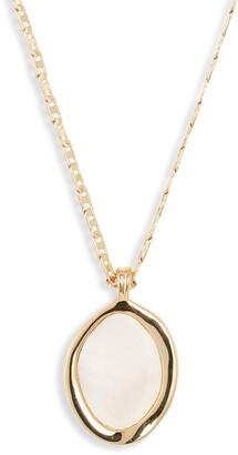 Jenny Bird Isla Mother of Pearl Pendant Necklace