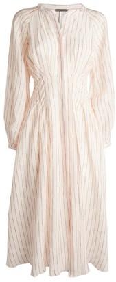 Three Graces Valeraine Striped Linen Dress