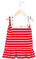 Florence Eiseman Girls' Double-Breasted Striped Dress
