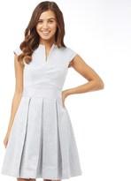 Ted Baker Womens Denai Jacquard Skirt Dress Powder Blue