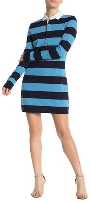 Veronica Beard Dusty Rugby Striped Dress