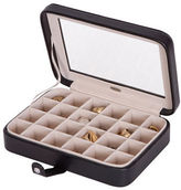 Mele Elaine Faux Leather Glass Top Jewelry Box