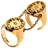 House Of Harlow Double Metal Sunburst Ring in Gold