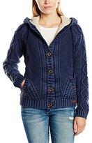 DreiMaster Women's Long Sleeve Cardigan - Blue