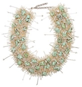 Toga Bead and turquoise-embellished necklace