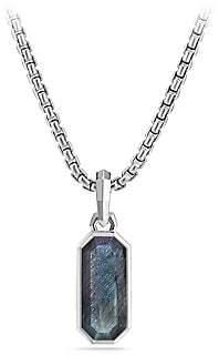 David Yurman Labradorite Emerald Cut Amulet