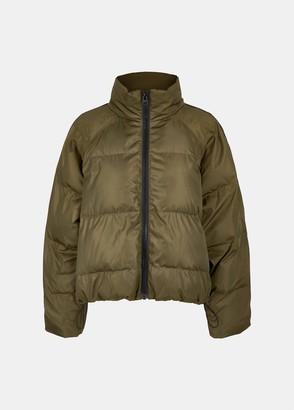 Essentiel Antwerp Vupside Short Puffer Jacket in Khaki - large