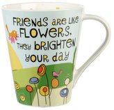 Life is Good The Good Life Friends Brighten Your Day Flight Mug, Multi-Colour