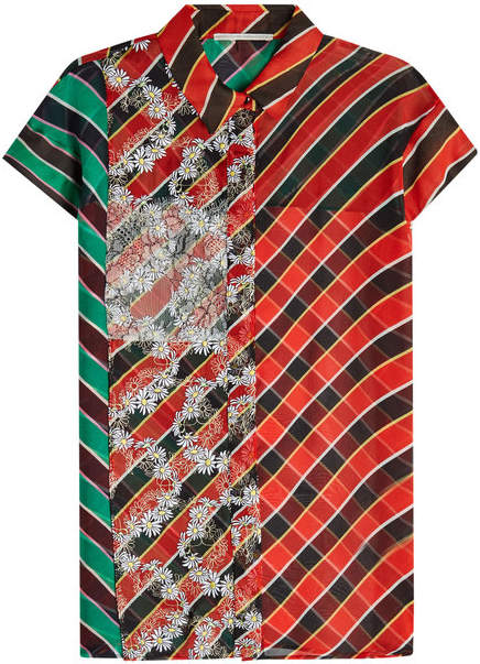 Marco De Vincenzo Printed Silk Shirt