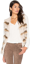 Heartloom Sullivan Rabbit & Asiatic Raccoon Fur Vest in Ivory