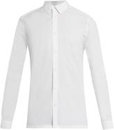 Balenciaga Point collar stretch-poplin shirt