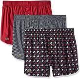 Lacoste Men's Authentics 3-Pack Golf Flag Boxer