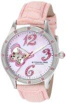Stuhrling Original Women'196SW.1115A9 Vogue Audrey Freedom Automatic Skeleton Swarovski Mother-Of-Pearl Pink Watch