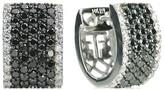 Effy Jewelry Effy Caviar 14K White Gold Black and White Diamond Earrings, 1.97 TCW