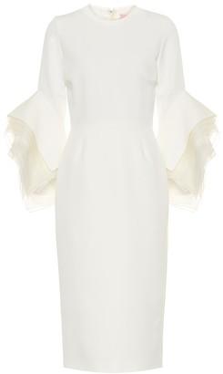 Roksanda Ronda crApe bridal midi dress