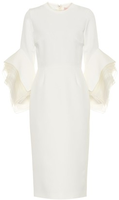 Roksanda Ronda crepe bridal midi dress