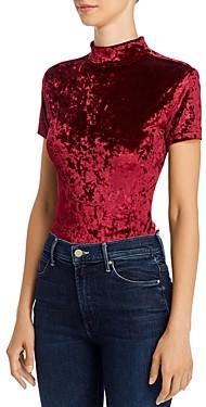 Aqua Crushed Velvet Bodysuit - 100% Exclusive