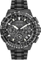 Citizen Men's Chronograph Eco-Drive Black Ion-Plated Titanium Bracelet Watch 47mm CC9025-85E