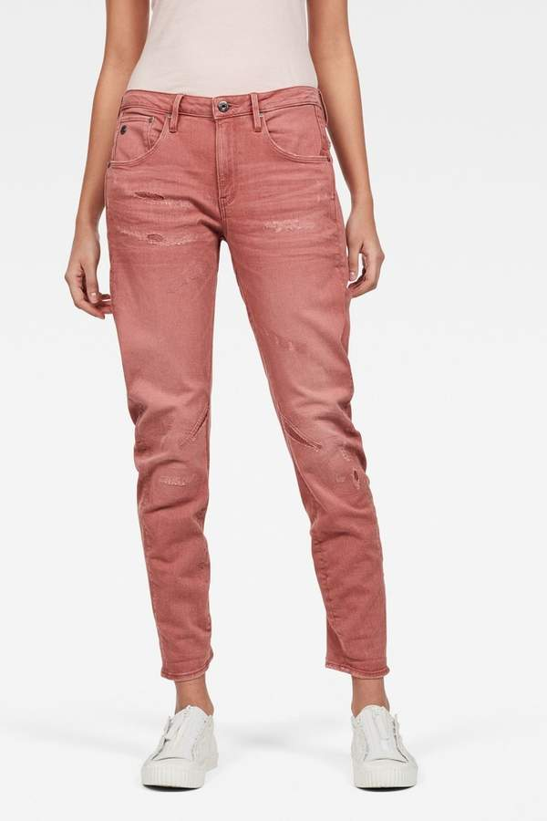 G Star Womens G-Star Arc 3D Low Boyfriend Jeans - Pink