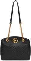 Gucci Black Medium Gg Marmont Tote