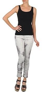 Cimarron CLARA TIE DYE PYTHON women's Cropped trousers in Grey