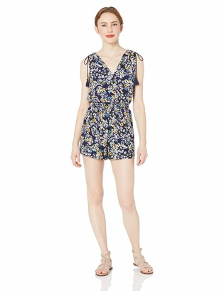 Cupcakes And Cashmere Women's Meadow Printed CDC Smocked Waist Romper