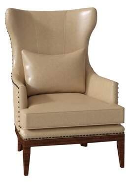 Bradington-Young Taraval Club Chair Bradington-Young Body Fabric: Outsider Cloud, Leg Color: Espresso, Nailhead Detail: Antique 7/16 Inch, Cushion Fill: Premier Down