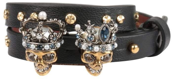 Alexander McQueen Queen & King Leather Bracelet