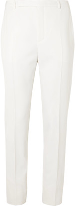 Saint Laurent Ivory Slim-Fit Tapered Wool Suit Trousers