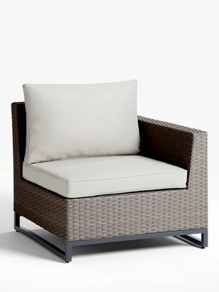 John Lewis & Partners Valencia Garden Left End Modular Chair Unit