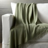 Crate & Barrel Lima Alpaca Sage Green Throw