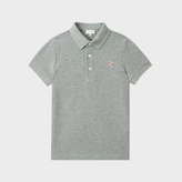 Paul Smith Boys' 2-6 Years Grey Zebra-Logo 'Muciano' Polo Shirt