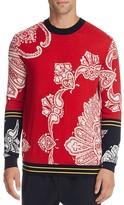 McQ by Alexander McQueen Paisley Print Wool Blend Sweater