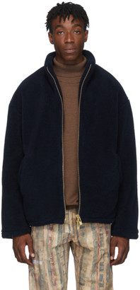 Han Kjobenhavn Navy Fleece Track Jacket