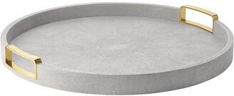 AERIN Carina Shagreen Round Tray - Small