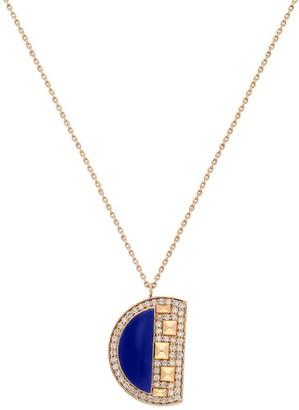 Terzihan Rose Gold, Diamond And Lapis Lazuli Neutra Cairo Pendant Necklace