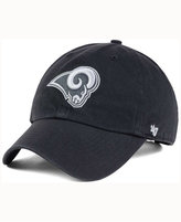 '47 Los Angeles Rams Charcoal White Clean Up Cap