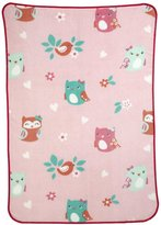 Carter's Too Cute To Hoot Toddler Printed Coral Fleece Blanket