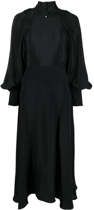 Victoria Beckham Halterneck Flared Midi Dress