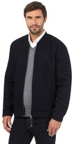 J By Jasper Conran Big And Tall Navy Wool Baseball Zip Through Jacket