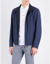 Canali Reversible Wool And Shell Bomber Jacket