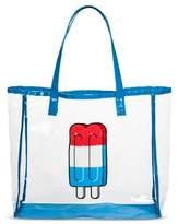 Mossimo POPTIMISM! Women's Popsicle Print Jelly Tote Handbag - Blue