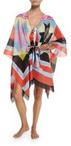 Emilio Pucci Monreale Print Belted Caftan Coverup
