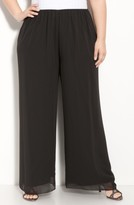 Alex Evenings Plus Size Women's Chiffon Palazzo Pants