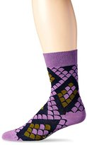 Happy Socks Men's 1 Pack Unisex Combed Cotton Crew - Black Snake