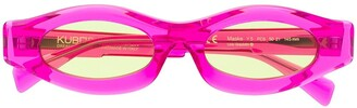 Kuboraum Narrow Oval-Frame Sunglasses