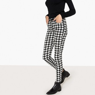 """La Redoute Collections Houndstooth Check Slim Fit Jeans, Length 30.5"""""""