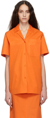 Kwaidan Editions Orange Poplin Uniform Shirt