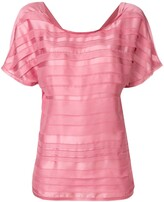 Chanel Pre Owned 3D striping T-shirt