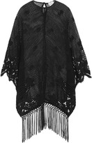 Miguelina Vonna crocheted cotton-lace kaftan
